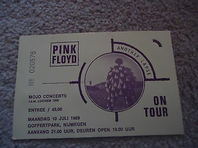 Pink Floyd Another Lapse Tour 1989 Concert Ticket