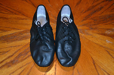 Womens black oxford jazz shoes, size 6 1/2