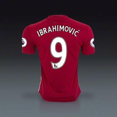 Manchester United 9 Ibrahimovic Home Soccer Jersey Sz:XXL