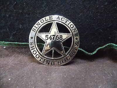 SINGLE ACTION SHOOTING SOCIETY BADGE Made in U. S. A.