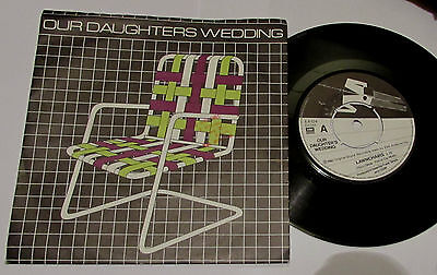 """Our Daughters Wedding  .  Lawnchairs / Airline  7""""   P/s   New Wave Synth"""