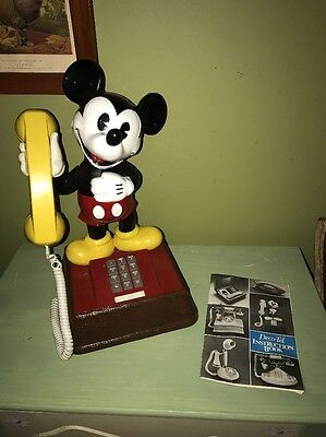 Vintage Deco Telephone Mickey Mouse