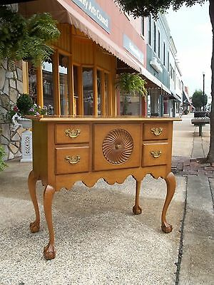 Outstanding Maple Ball & Claw Lowboy by Baker 20th Century