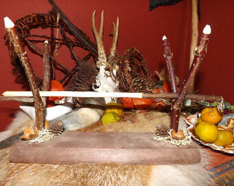 Wand / talking stick Holder - shaman druid wicca witchcraft magical arts pagan
