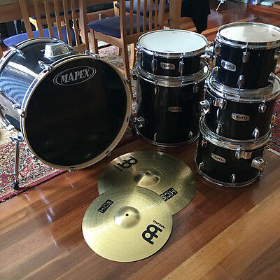 6 Piece Mapex Drumkit with Meinl Cymbals - Six Piece Drum Kit