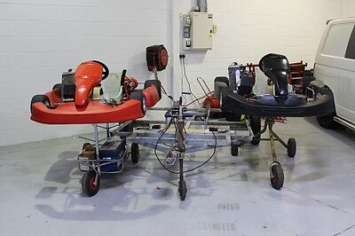 ROTAX SENIOR RACING KART'S 125cc X 2 WITH TRAILER- LOTS OF SPARES 2X TROLLEY'S