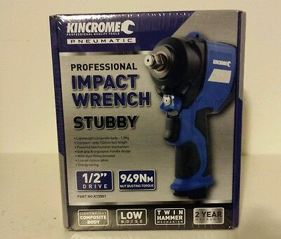 kincrome 1/2inch pneumatic impact wrench stubby professional 949nm torque