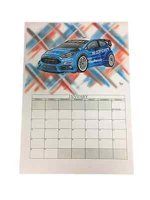 M-Sport World Rally Team 2017 A3 Calendar *Free UK Delivery*