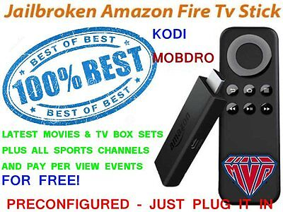 Amazon Fire TV Stick with Kodi Fully Loaded✅ Sports✅ TV Shows✅ Movies✅ Mobdro✅