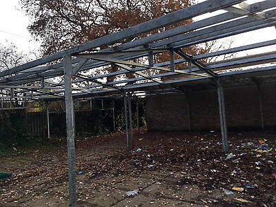 Used Galvanised Steel Framed Building 14m (46ft) X 9m (30ft) X 3m (10ft) APPROX