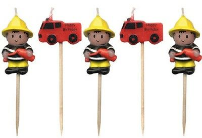 Fireman Party Candles