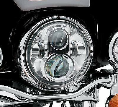 """7"""" LED Headlight For Harley Davidson MOTORCYCLE CHROME PROJECTOR DAYMAKER HID LE"""
