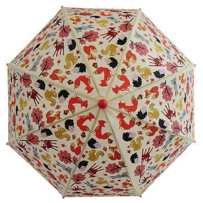 Powell Craft kids umbrella -Woodland animals print -Autumn/foxes/squirrels/trees