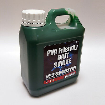 PVA friendly fishing bait smoke Halo effect  1 Litre extreme garlic