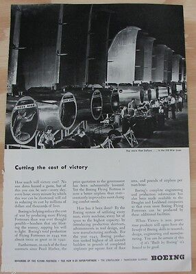 1940's Boeing Aircraft manufacturing advertisement WWII