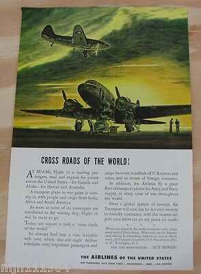 1940's Air transport WWII advertisement
