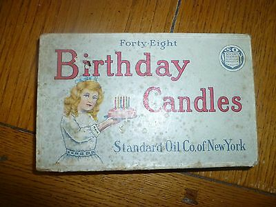 Vintage Birthday Candles Standard Oil of New York SOCONY Petroleum Products