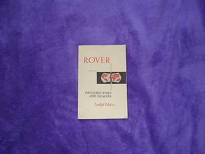 Rover Distributors and Dealers booklet