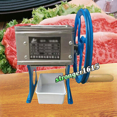 Manual Hand-cranked Meat Slicing Cutting Shredding machine, Meat Slicer Cutter