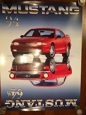 1964 1/2-1984 FORD MUSTANG VINTAGE ORIGINAL DEALER POSTER / with shipping tube