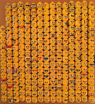 Lego and some custom Minifigure Heads - 241 in total