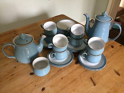 Denby Colonial Blue tea and coffee set