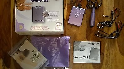 Femme Babycare Maternity Pregnancy TENS Machine for Labour w Electrode Pads
