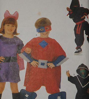 Butterick Sewing Pattern 6757 Girls' and Boys' Superhero Costumes Sizes 4 to 14