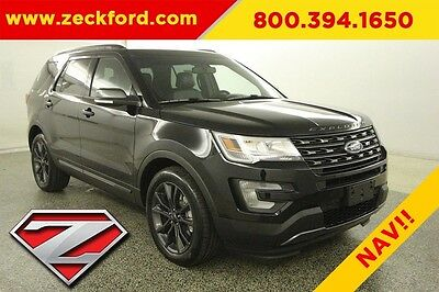 2017 Ford Explorer XLT Sport Appearance Package 3.5L V6 Automatic FWD Navigation Sync 3 Reverse Camera Leather Remote Start