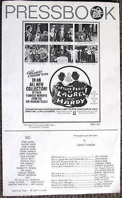 Laurel and Hardy the Further Adventures of Stan Laurel & Oliver Hardy Pressbook
