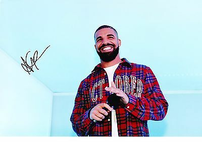 """Genuine Drake Singer Rapper Hand Signed Autograph 12X8"""" Photo With Coa"""