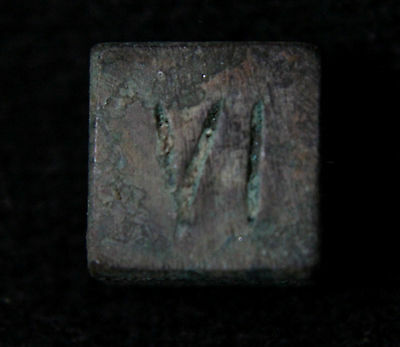 Roman  Bronze Legionary Legio VI weight 42-40 BC