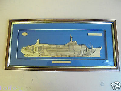 P&o Cruises Cut Away Picture : S.s. Canberra 1960 - 1997 Liner Framed