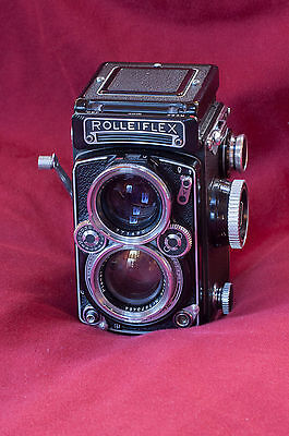 Rollei Rolleiflex 2.8E Planar With Many Accessories Beautiful Vintage TLR Set