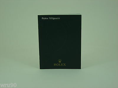 Genuine Rolex vintage Milgauss instruction booklet/manual 2011