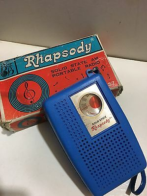 Vintage Rhapsody Pocket Radio  Am(Mw)- Band From The 1960S+Box