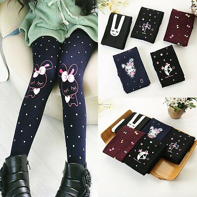 Toddler Baby Kids Girls Legging Thick Warm Skinny Stretchy Pants Trousers 2-7Y