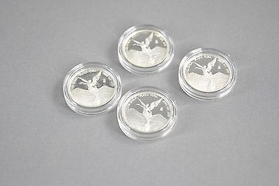 2009 1/20 oz Silver Mexican Libertad Proof *  Lot of 4 coins