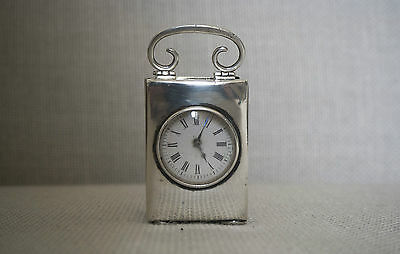 Rare antique 1903 baby Silver Carriage Clock Hallmarked JM London sell for £1500
