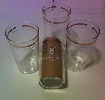 Canadian Club Whisky Glasses Set Of 4