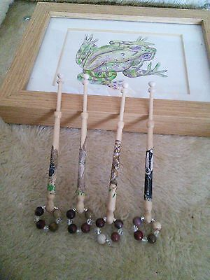 Lace bobbins with a Woodland Friends Theme