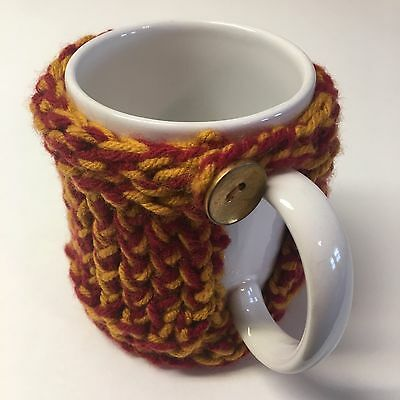 Handmade Gold and Maroon Gryffindor inspired Cozy Cup Coaster