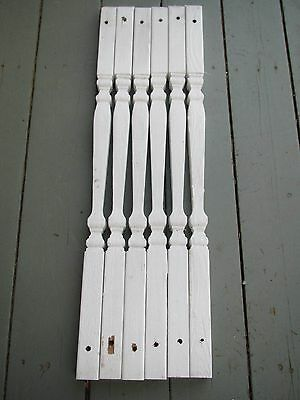 Antique Lot of 6 Craftsman Gothic Victorian  Baluster Spindles Porch Railing #2