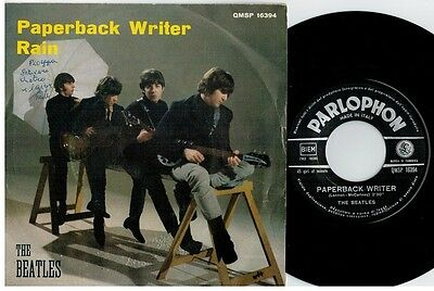 THE BEATLES Paperback writer Rain 45rpm 7' + PS 1966 ITALY EX+