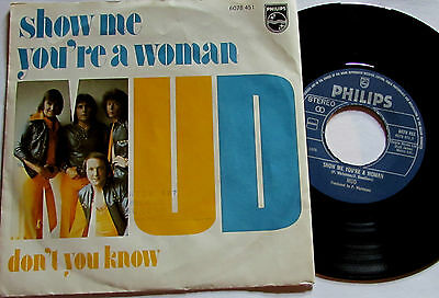 """MUD  show me yiour a woman  P/S 7""""  HOLLAND PRESSING  GLAM ROCK  SWEET SLADE"""