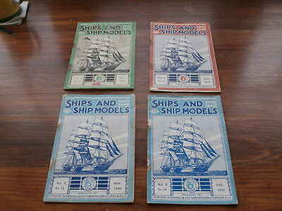 SHIPS AND SHIP MODELS MAGAZINES 4 Misc 1931/1932