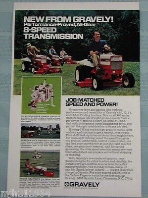 1970's Gravely Mower advertisements lot