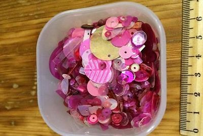 Small selection of pink sequins