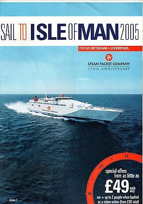ISLE OF MAN STEAM PACKET 2005 TIMETABLE BROCHURE 175th Anniversary