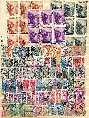 Collection Of Belgium Railway Stamps Blocks Of 9 Mint Never Hinged, Good Used